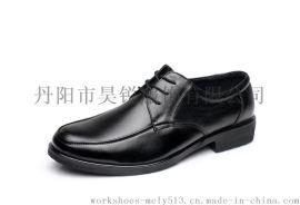 专业工作鞋厂家 头层牛皮 春秋季耐磨防滑单皮鞋 工作鞋 酒店鞋 保安鞋 3668
