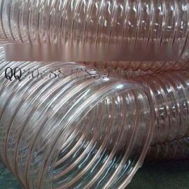 山西长治耐磨聚氨酯pu钢丝伸缩软管厂家直销 价格多少钱