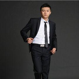 男式西服套装黑色西装修身韩版商务正装职业装上班新郎结婚礼服