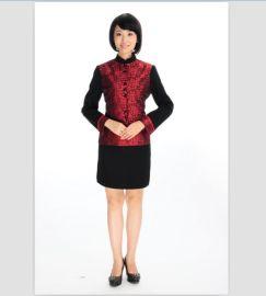 上海厂家供应餐饮工作服秋季餐厅服装 咖啡厅服务员工作服长袖
