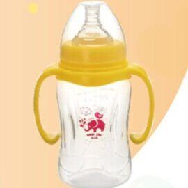 新生婴儿奶瓶 自动吸管pp奶瓶 宽口径带柄防摔奶瓶
