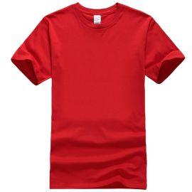 2019新款圆领空白短袖文化衫定做 活动团建t恤衫印图案广告衫定制