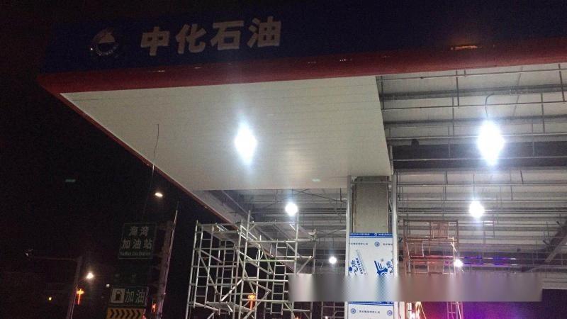 石家庄高速公路服务区加油站吊顶防风铝扣板【白色防风铝条扣】