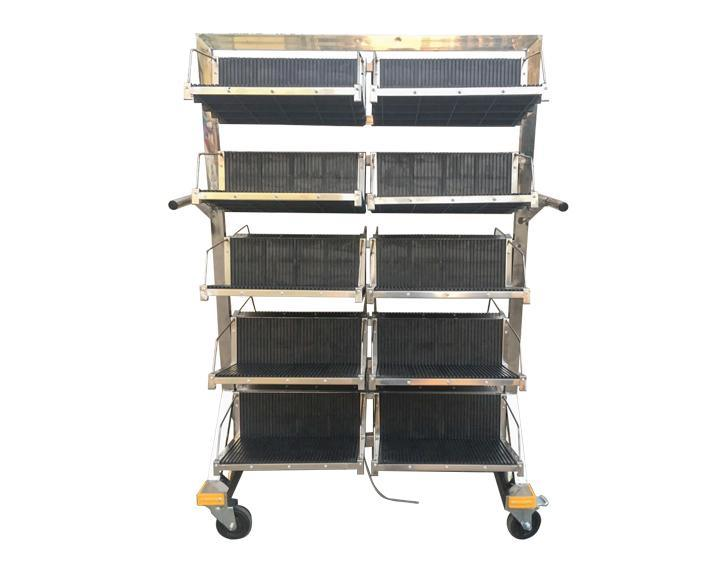 防静电pcb挂篮周转车 smt车间线路板不锈钢挂篮车