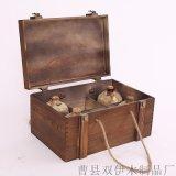 廠家定製仿古洞藏酒老酒木盒六瓶裝 高檔復古白酒包裝盒酒罈木箱