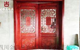 貴州仿古門窗廠家,實木花格雕花門窗定做廠家