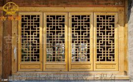 泸州仿古门窗厂家,实木花格雕花门窗定做厂家