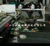 蔬菜除水瀝水用什麼設備,河南蔬菜翻轉式風乾機
