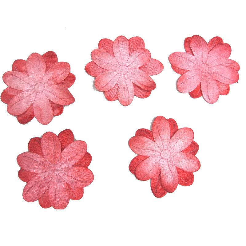 供应手工染色   边沿撒金粉的渐进色定型花片
