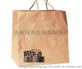 牛皮纸手提袋 煎饼手提袋  ZD0022