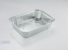 1906ml 铝箔盒 一次性饭盒 外卖铝箔餐盒 配铝箔纸盖WB260-1