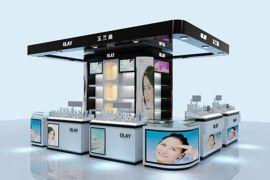 化装口专卖展示柜、化妆品时尚展示柜、化妆品高端展示柜定制、化妆口简约展示柜制作、化妆品店展示柜设计厂家