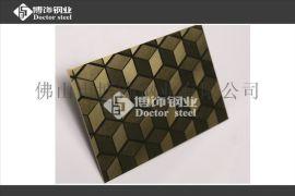 不锈钢镜面钛金蚀刻立方体,蚀刻不锈钢,不锈钢蚀刻板