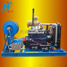 高压水管道疏通清洗机 汽油驱动疏通机 宏兴