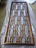 不锈钢黄古铜屏风隔断 拉丝钛金不锈钢花格