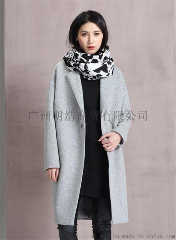 雙面羊絨大衣女裝品牌折扣加盟就到廣州明浩