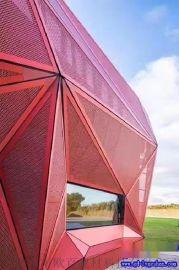 天津铝网板 铝天花网格板 外墙铝板网定做 铝板网装饰效果图