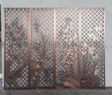 精美定製鋁雕門花 酒店大堂裝飾鋁板鏤空雕刻屏風廠家