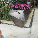 供應酒店裝飾金屬花盆花箱定製加工