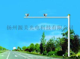 监控立杆加粗3/4米摄像头立柱道路大型监控支架室外