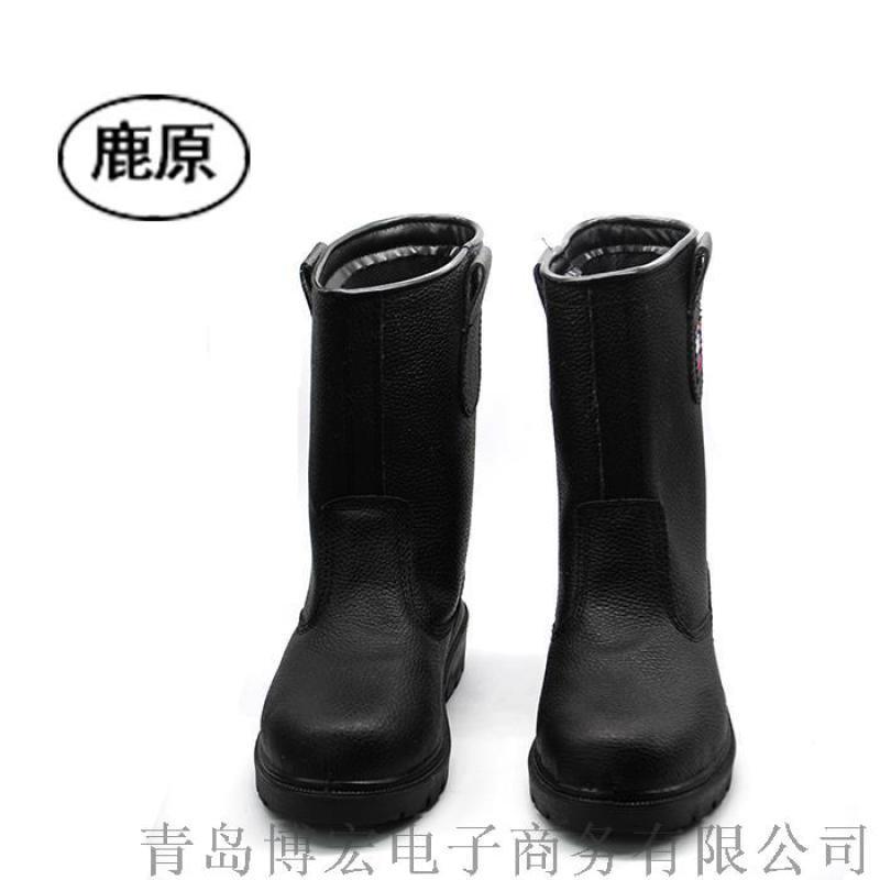 勞保鞋鞋男春夏高幫靴油田礦井鋼包頭防砸防刺穿高幫靴