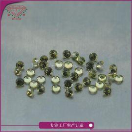梧州天然黄宝裸石中色2.0mm圆厂家直销黄宝蓝宝天然宝石大量供应