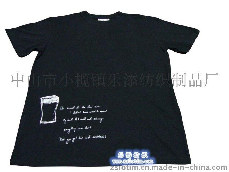 厂家直供广告纯棉印花运动T恤 文化衫