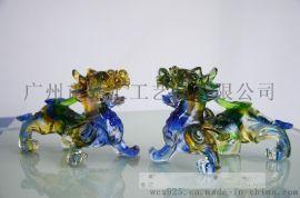 琉璃貔貅工艺品,琉璃招财貔貅摆件,琉璃风水摆件工艺,广州琉璃礼品制作