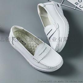 HSQ-05真皮氣墊護士鞋,醫用小白鞋