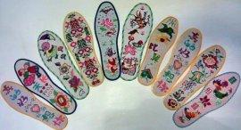 纯手工十字绣鞋垫