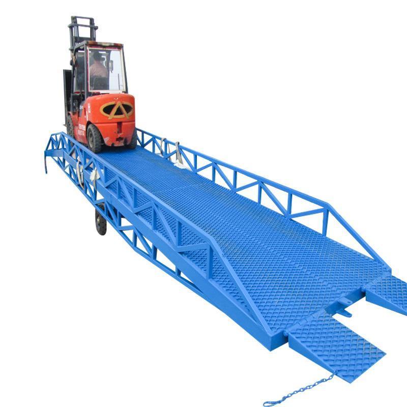 生产厂家8-12吨手动液压移动登车桥移动式登车桥 液压登车桥