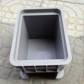 HDPE灰色塑料箱 全新料周轉箱 現貨標準尺寸PP物流運輸箱供應