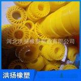 黄色聚氨酯太阳轮 耐磨聚氨酯送纸轮 可定