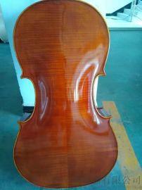 纯手工实木进口天然植物油漆学生大提琴