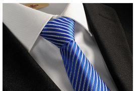 领带 男士商务休闲职业领带 涤纶丝箭头型提花条纹领带 厂家批发