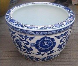 景德镇陶瓷龙珠缸,龙珠缸,青花瓷大缸