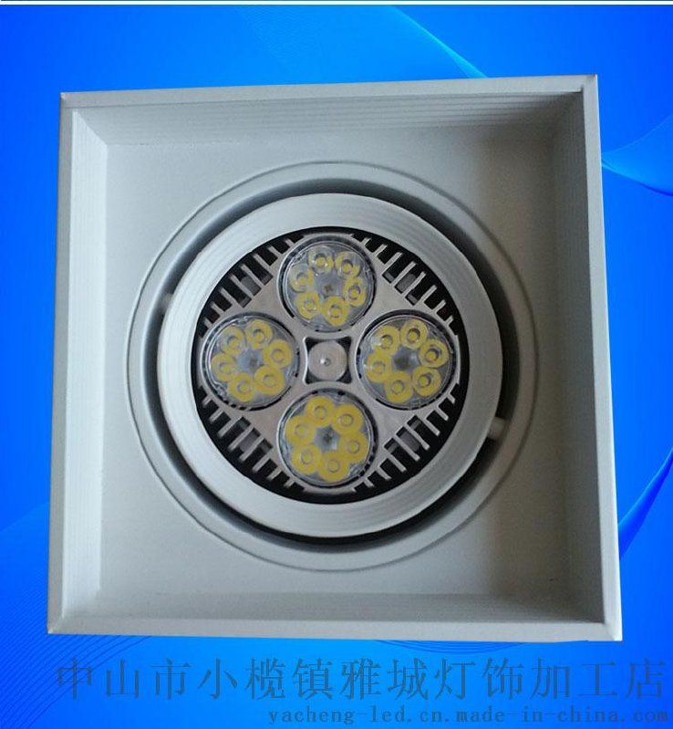 PAR30帕燈方形明裝筒燈外殼可調方向