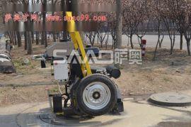 井盖周边路面切割机 井盖圆周切割机厂家 更换井盖用切割机