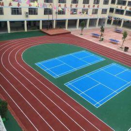 学校/社区惠州室外硅PU羽毛球场施工