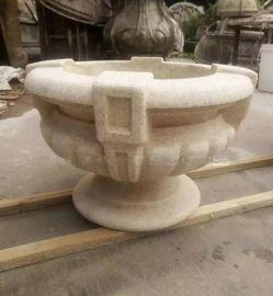 石雕花钵花盆 户外装饰人造石花钵 市政园林景观花盆厂家直销