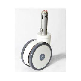 5寸中控輪 對接車輪 擔架車輪 德藝腳輪 活動插杆輪 萬向剎車輪 靜音輪