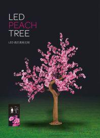 樱花树灯--粉色led发光5m树灯