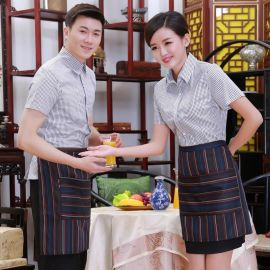 時尚酒店工作服量身定做酒店服務員工作服短袖制服新款春夏裝