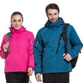 冬冲锋衣户外男女士防水三合一可拆卸登山服装滑雪服外套定制logo