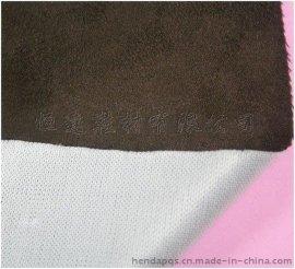 东莞PUR热熔胶环保复合 白色涤纶佳积布复合鸡皮绒