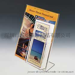 供应L型亚克力彩页资料展示架,有机玻璃小册子盒