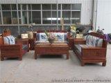 精雕中式古典家居/博古高背花梨沙發/紅木沙發/實木客廳傢俱6件套