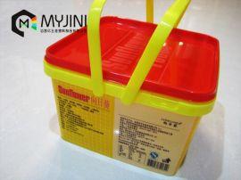 模内贴标工艺,食品包装盒,向日葵饼干盒