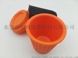 环保创意硅胶旅行马克杯 硅胶隔热防烫咖啡杯马克杯