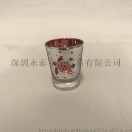 2.5OZ小酒杯电镀小酒杯 LOGO定制
